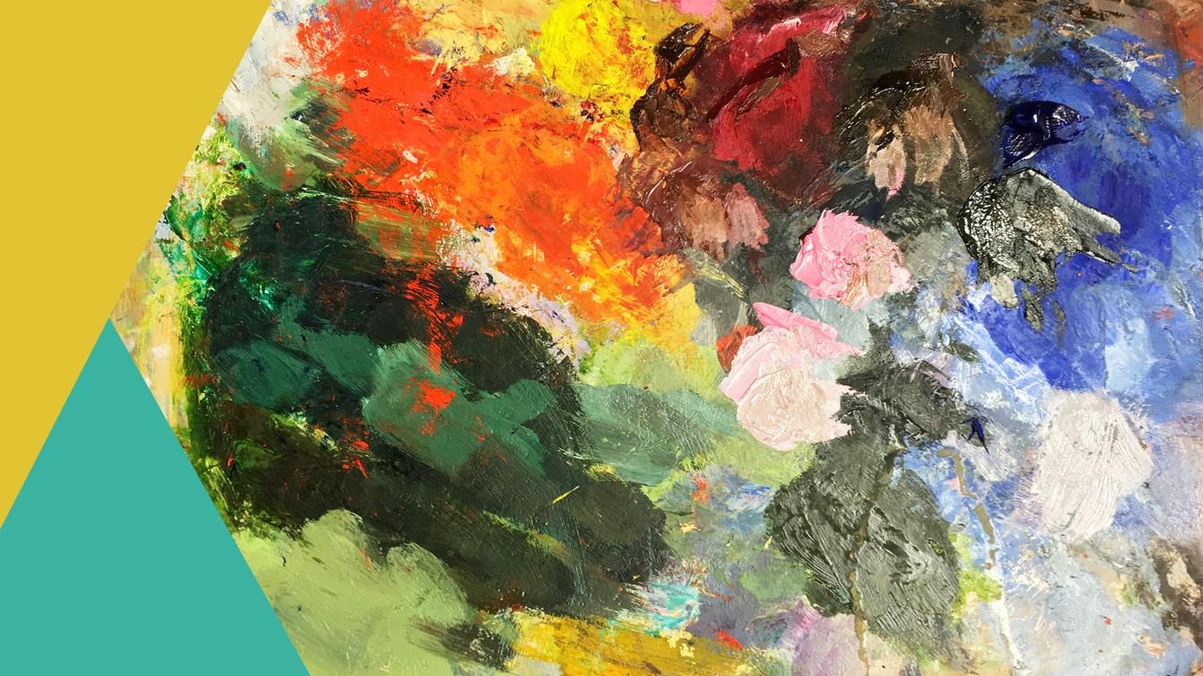 Schilderij met kleuren